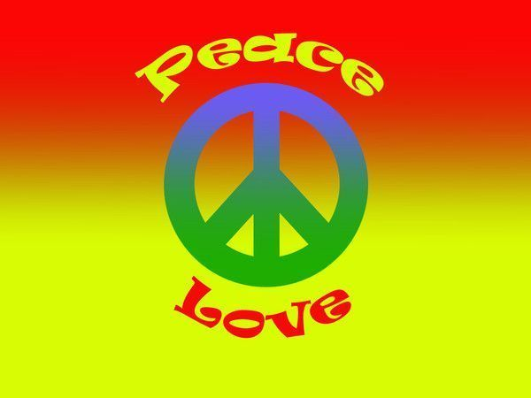 fond d'ecran Peace & Love